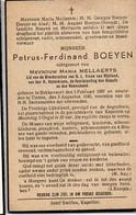 Doodsprentje Petrus Ferdiand Boeyen Echtg Mellaerts °1897 Bekkevoort +1946 TIenen Kapellen Dereze Dereydt Boerenbond - Décès