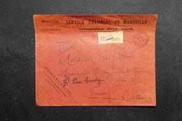 FRANCE - Enveloppe Du Ministère Des Colonies En Recommandé De Marseille Pour Vichy En 1944 - L 27832 - Marcophilie (Lettres)