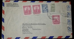 L) 1948 COLOMBIA, PRECOLOMBINO MONUMENT, 30C, PINK, 2C GREEN, COMMUNICATIONS PALACE, 5C, CIRCULATED COVER FROM COLOMBIA - Colombia