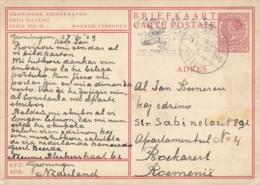 Nederland - 1939 - 7,5 Cent Fotokaart G240s (r) - Groningen Zuiderhaven VIII Nr 1 - Van Groningen Naar Boekarest - Entiers Postaux