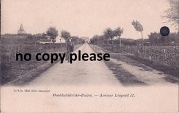 OOSTDUINKERKE- BAINS , AVENUE LEOPOLD II, ORIGINELE KAART - Oostduinkerke