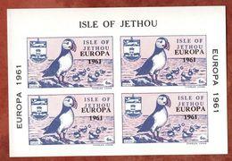 Vignettenblock, Europa, Vogel, Isle Of Jethou (72075) - Regionalmarken