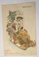 """""""Weihnachten, Schlitten, Bär, Fell, Spielzeug, Hutmode"""" 1900♥   - Weihnachten"""