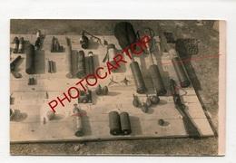 Grenades-Obus-Mines-Fusil-Pistolet-Armement-CARTE PHOTO Allemande-Guerre14-18-1WK-Militaria-Technique- - Guerra 1914-18