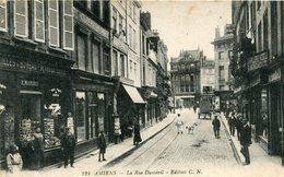Cpa 80 Amiens La Rue Duméril Magasin De Cpa R.Marquis écrite --dv-- - Amiens