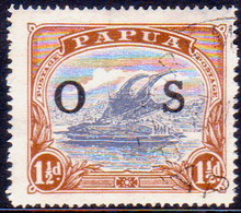 PAPUA (BRITISH NEW GUINEA) 1931 SG #O57 1½d Official Used CV £12.00 - Papouasie-Nouvelle-Guinée