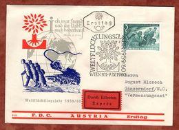FDC, Eilboten Expres, Weltfluechtlingsjahr, Wien Nach Gaenserndorf 1960 (72081) - FDC