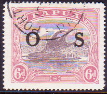 PAPUA (BRITISH NEW GUINEA) 1931 SG #O62 6d Official Used CV £8.50 - Papouasie-Nouvelle-Guinée
