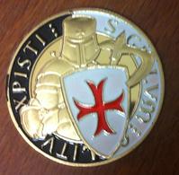 11 CHEVALIER TEMPLIER 2 CROIX  CHRIST MÉDAILLE SOUVENIR JETON MEDALS TOKEN COINS - Touristiques