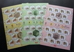 Malaysia Honey Bees 2019 Insect Bee Flower Fauna Flowers (sheetlet) MNH *odd Shape *unusual - Malasia (1964-...)