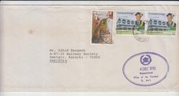 President Of Trinidad & Tobago And Principe Cover To Pakistan    (RED-4000-special-4) - Trindad & Tobago (1962-...)