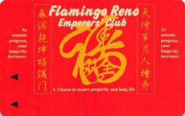 Flamingo Casino Reno NV - Extremely Rare Emperors' Club Slot Card  (Blank)   ....[RSC]..... - Casino Cards