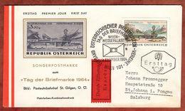 FDC, Eilboten Expres, Tag Der Briefmarke, Wien Nach St Johann 1964 (72088) - FDC