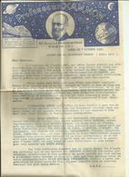 Superbe Lettre Et Bon De Commande Horoscope Annuel Du Professeur Hammon 1936 - Vecchi Documenti