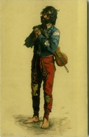 BARE FEET GITANO / GYPSY WITH VIOLIN - ART POSTCARD 1900s  (BG211) - Illustrators & Photographers