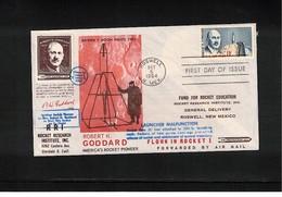 USA 1964 Space / Raumfahrt Robert H.Goddard Rocket Pioneer Interesting Cover Flown In Rocket - United States