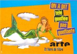 """Carte Postale  """"Cart'Com"""" (2000) - Chaine Télévision - Arte (sirène) - Publicité"""