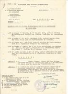 Haut Commissariat De La République Française En Allemagne - Décision De L'Ambassadeur De France Mr François PONCET 1951 - Documenten