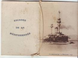 Programme Des Danses Escadre De La Mediterrannée Villefranche 1896 - Dépliants Touristiques