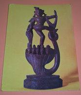 Divinità Dio Siva India Statua Legno Mostra Missionaria Colle Don Bosco Cartolina Non Viaggiata - Sculture