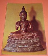 Budda In Bronzo Thailandia Mostra Missionaria Colle Don Bosco Cartolina Non Viaggiata - Sculture