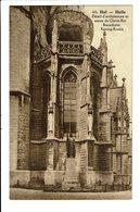 CPA - Carte Postale - Belgique -Halle Détail D'architecture Et Statue Du Christ Roi VM2093 - Halle