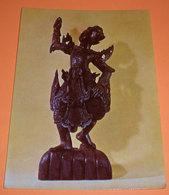Birmania Ballerino Statua Legno E Ferro Mostra Missionaria Colle Don Bosco Cartolina Non Viaggiata - Sculture