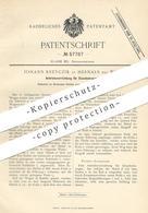 Original Patent - Johann Kreyczik , Hernals , Wien , Österreich  1890 , Antrieb Für Eisenbahnen   Eisenbahn , Lokomotive - Historische Dokumente