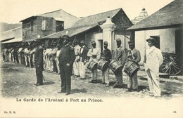 Haiti, PORT AU PRINCE, La Garde De L'Arsénal, Military Music Band 1899 Postcard - Haïti