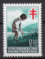 Yugoslavia 1938 Tuberculosis TBC Red Cross Tax Surcharge Charity Postage Due, MNH - Postage Due
