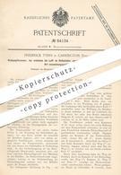 Original Patent - Frederick Tyers , Carrington , England , 1894 , Öldampfbrenner | Öl - Dampfbrenner | Brenner , Licht ! - Historische Dokumente