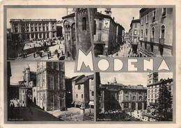"""0354 """"MODENA - ANIMATE VEDUTE DEL CENTRO STORICO"""" CART. ORIG. SPED.1948 - Modena"""