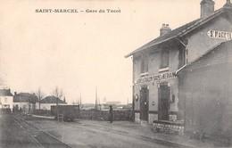 71- CPA SAINT MARCEL Gare Du Tacot  RARE - France