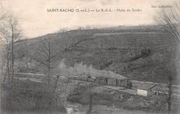 71- CPA SAINT RACHO Le R.S.L . Halte Du Sordet  RARE - France