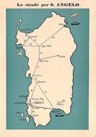 """0356 """"  LE STRADE PER SANT'ANGELO - IGLESIAS (CAGLIARI)"""" CART. ORIG. SPED.1962 - Altre Città"""