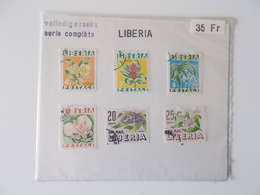 Lot #9 - Complete Reeks Diverse Bloemen  LIBERIA, Lot Zoals Te Koop In De Vorige Eeuw - Non Classés