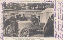 Course De Paris-Madrid Loraine-Barrow In 'Dietrich' 45 Hp, 'Pesae Aux Tuileries', C1900 Vintage Postcard - Rally Racing