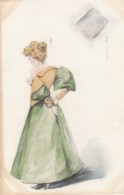 Unknown Artist Image Woman Undressing Risque View, C1900s Vintage Postcard - Illustrators & Photographers