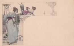 Unknown Artist Image Beautiful Women, Roman Theme, Art Nouveau Design Theme, C1900s Vintage Postcard - Illustrators & Photographers