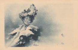 Bottaro Signed Image Beautiful Woman, Fashion, C1900s Vintage Postcard - Bottaro