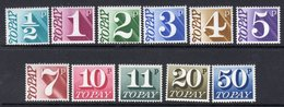 GREAT BRITAIN GB - 1970 POSTAGE DUE / TO PAY SHORT SET TO 50p (11V) FINE MNH ** SG D77-D87 - Postage Due