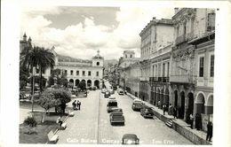 Ecuador, CUENCA, Calle Bolivar, Cars (1950s) RPPC Postcard - Ecuador
