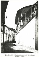 Ecuador, QUITO, La Españolisima Calle De La Ronda (1950s) RPPC Postcard - Ecuador