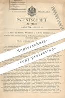 Original Patent - Robert Cumming Annand , South Shields , England , 1905 , Papier - Druckmaschine | Perforieren !! - Historische Dokumente