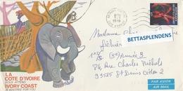 LSC 1978 - Enveloppe Illustré Côte D'Ivoire - Cachet ABIDJAN & Timbre - Côte D'Ivoire (1960-...)