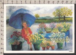 94019GF/ Illustrateur KARIBOU, Marchande De Fleurs - Illustratoren & Fotografen