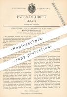 Original Patent - Gebrüder Sucharowski , Ratibor 1883 , Einsteckschloss | Schloss , Schlosser , Schlosserei | Türschloss - Historical Documents