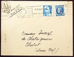 1948 Cover, Enveloppe De Paris Pour Etretat, France, Republique Française - France