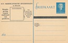 Nederland - 1949 - 6 Cent Juliana En-face - Spoorwegbriefkaart - Ganzsachen