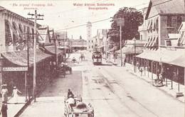 British Guiana, GEORGETOWN, Robbstown, Water Street, Tram (1910s) Postcard - Postcards